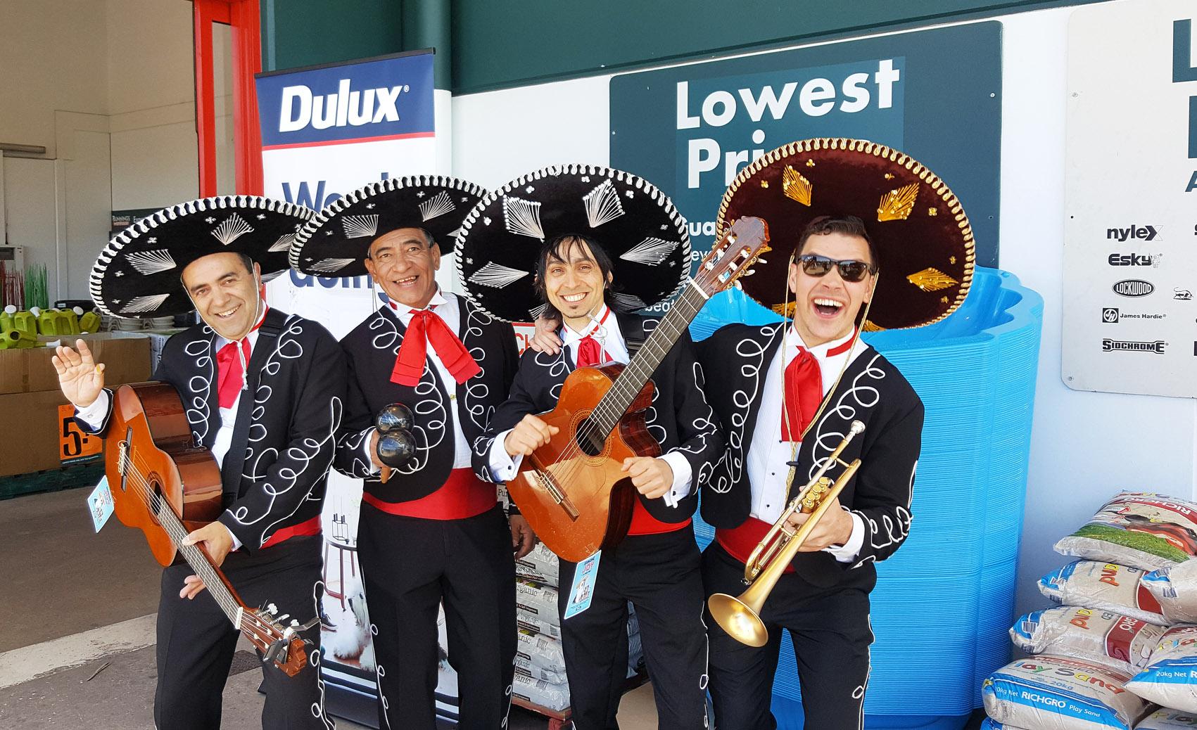 bunnings australia dulux paints mexican mariachi music australia sydney, melbourne, adelaide, perth, darwin, brisbane, gold coast, canberra, singapore, hong kong, dubai, japan