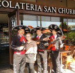 The 3 Amigos performing at San Churros Adelaide, Westfield Westlakes