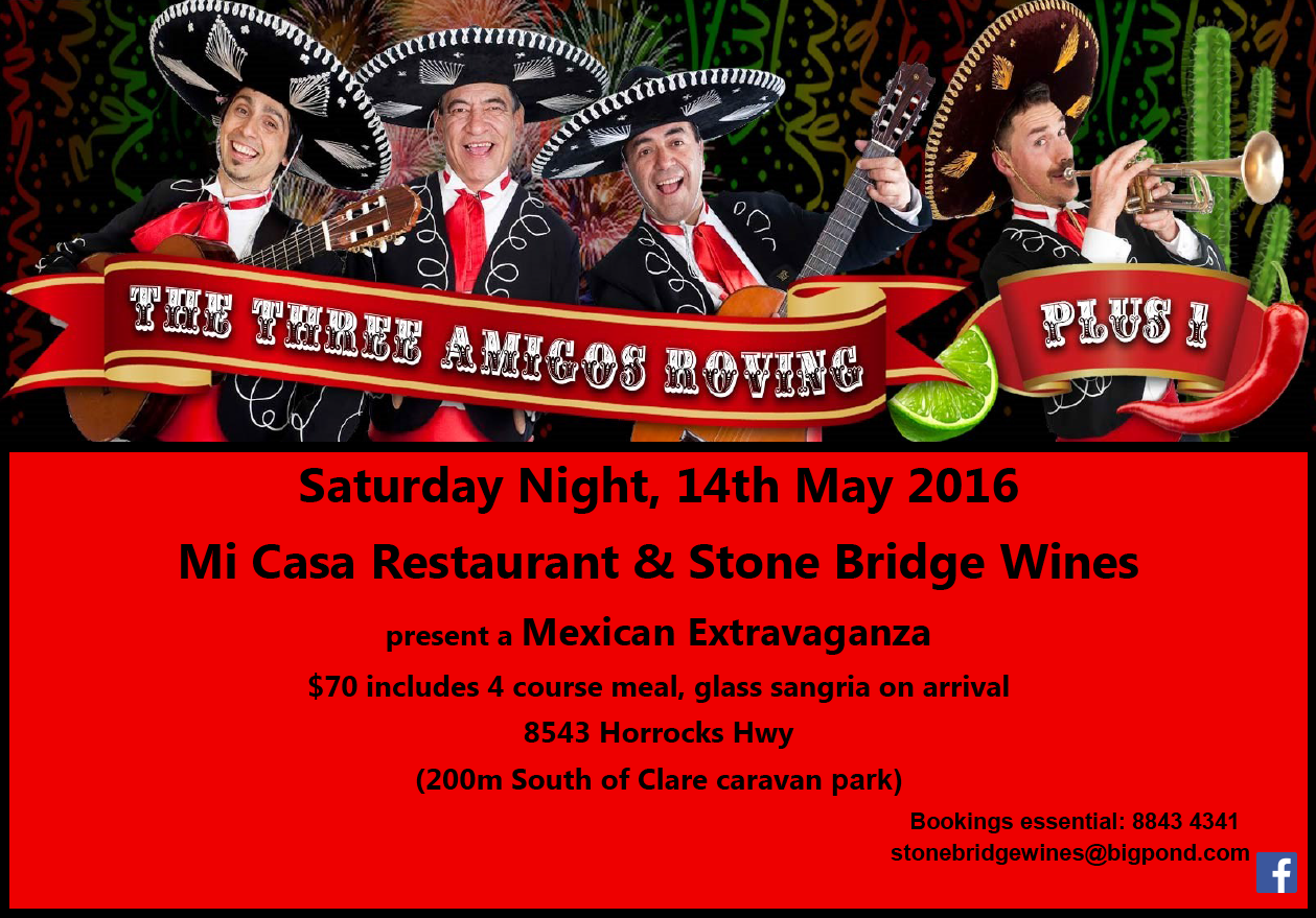 Stone Bridge Wines Mexican Fiesta Adelaide in Clare