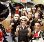 Staff photo at Renmark Club Mexican themed