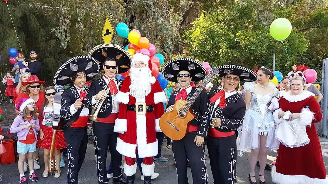 westfield christmas pageant modbury mexican band australia sydney melbourne singapore dubai brunei