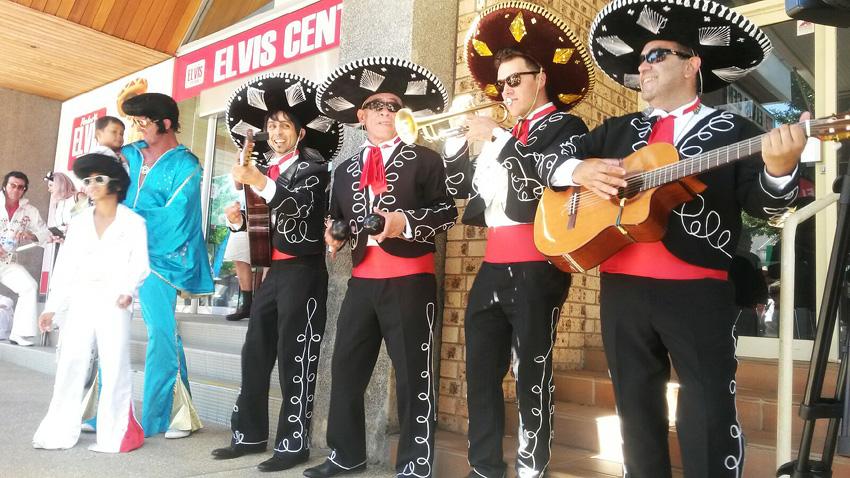 Elvis Parkes Festival with The Three Amigos Roving Mexican Mariachi Band Adelaide Australia