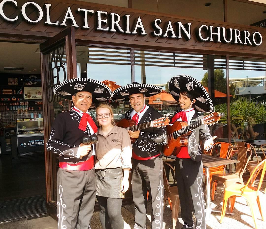 San Churros at Westfield Westlakes and Mariachi Mexican Band Adelaide Australia
