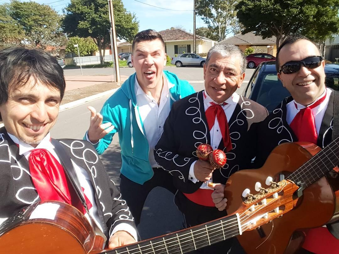 The 3 Amigos +1 mexican mariachi band adelaide, perth, Sydney, melbourne, darwin, gold coast, brisbane, tasmania, australia