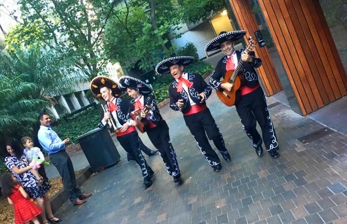 Wedding with The Three Amigos Roving Mariachi Band Australlia and Elio Solo Latin Instrumental Guitarist